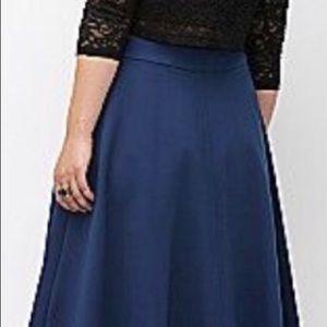 Ponte Blue Circle Skirt